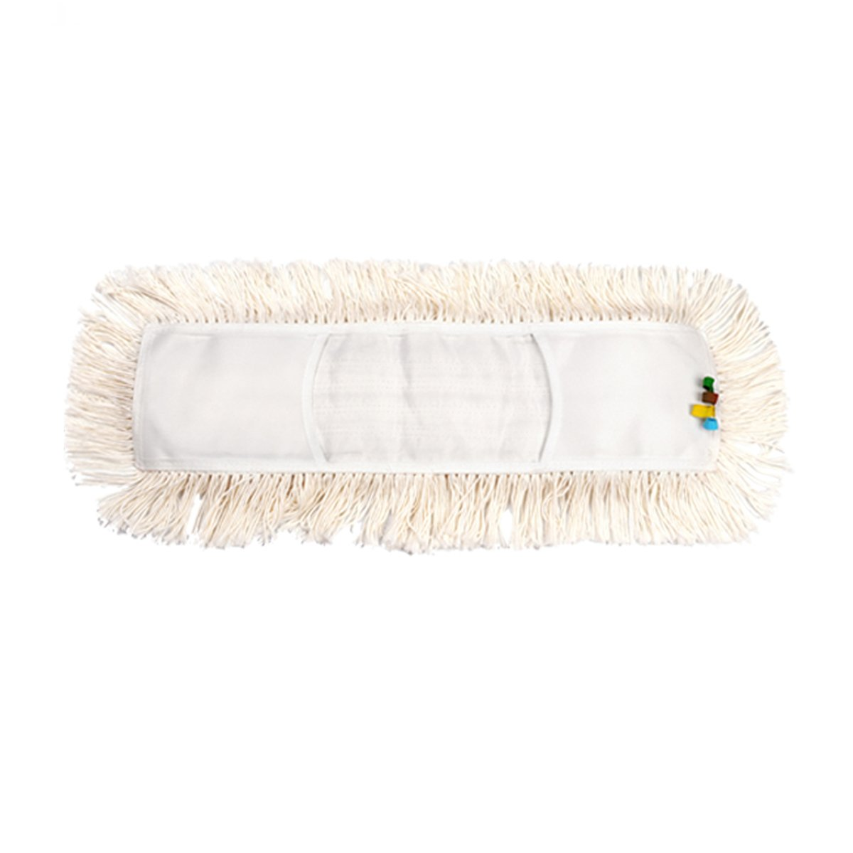 YCUTE Commercial Strength Cotton Dust Mop Refill, Thick Tufted Replacement Head For Home & Commercial Use, Fits Standard Size Mop Frame, Perfect for Hardwood, Laminate, Concrete (1, 35'')