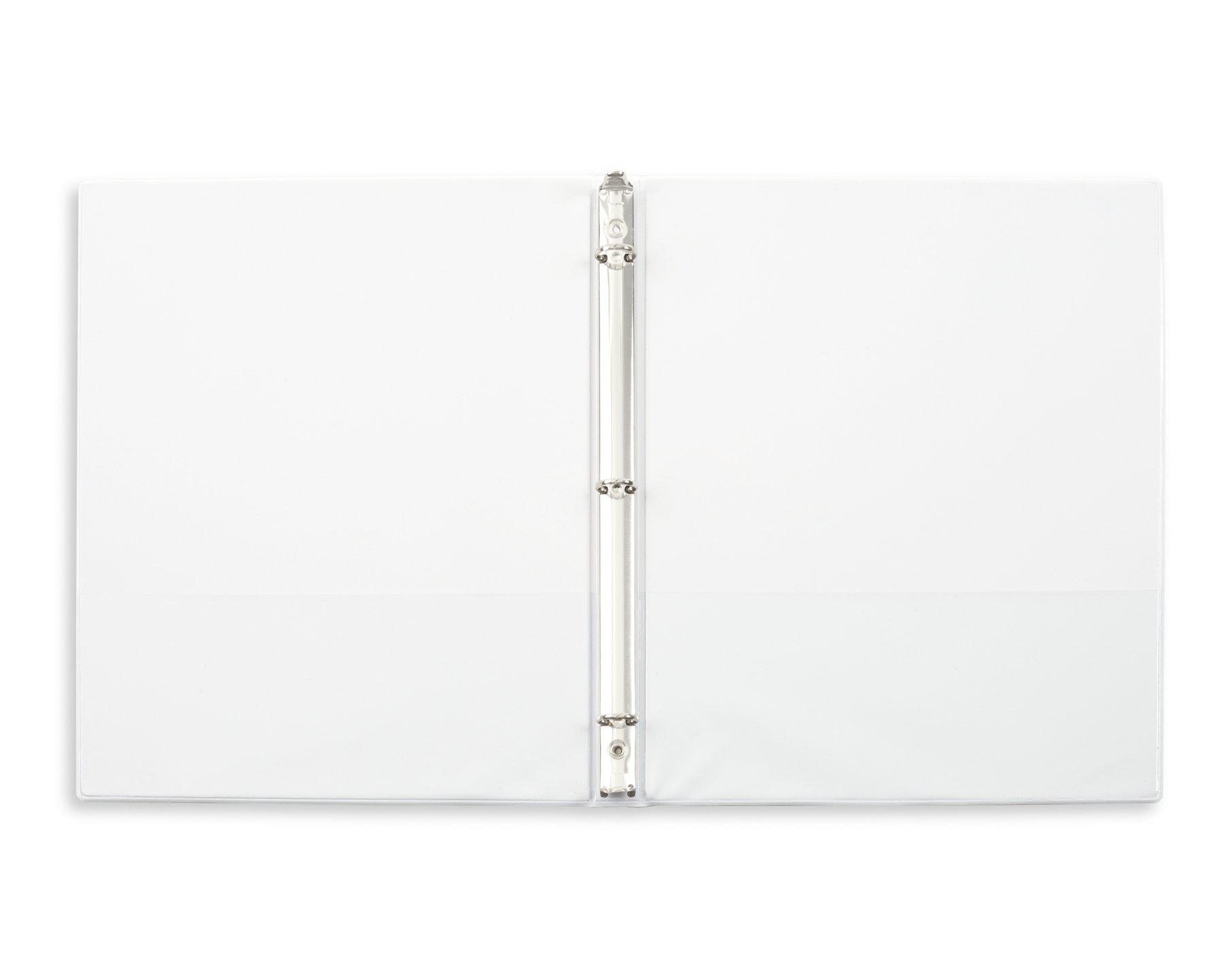 Blue Summit Supplies 10 Pack of 1/2 inch 3-Ring Economy Binders, White, Bulk Clear Cover Binders for Home, Office, and School, 8 1/2 inch x 11 inch Paper, Value Pack by Blue Summit Supplies (Image #4)