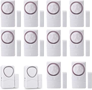2 110dB Magnetic Sensor Alarm Wsdcam Door And Window Alarms For Home Security