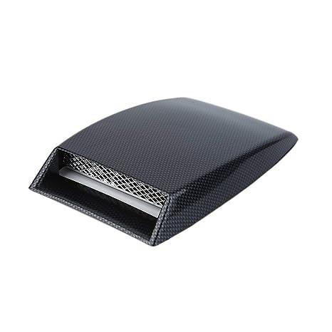 3 colori stile auto Universal Decorative Air Flow Aspirazione Scoop Turbo Bonnet Vent Cover Hood Argento//bianco//nero car styling