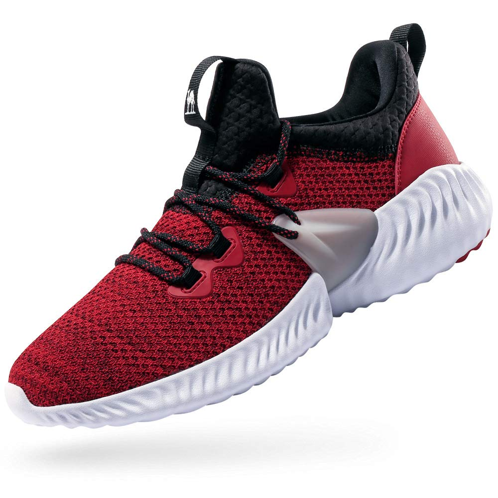 CAMEL CROWN Trail Running Shoes Non Slip Lightweight Casual Fashion Sneakers Sports Athletic Gym Walking Shoes for Men and Women Red 10.5D(M)