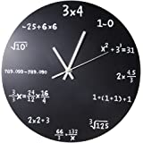 Robolife Creative Mathematics Blackboard Pop Quiz Clock Black Powder Coated Metal