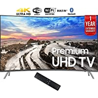 Samsung UN55MU8500FXZA 54.6 Curved 4K Ultra HD Smart LED TV (2017 Model) + 1 Year Extended Warranty (Certified Refurbished)