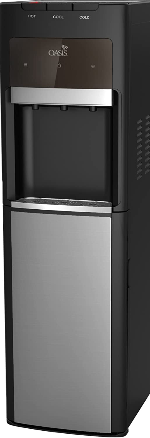 Oasis Bottleless Water Dispenser, Tri-Temp (Hot, Cold, Room-Temp) (6 Stage 10 Inch Standard R/O System)