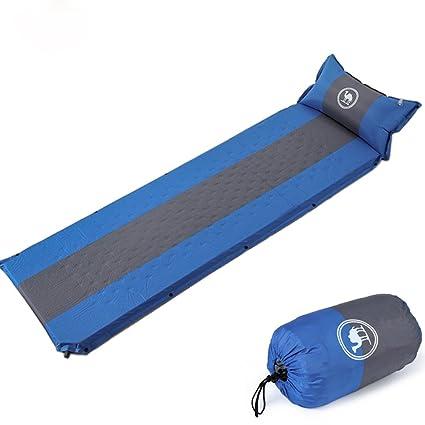 Camel CROWN Saco de dormir autohinchable con almohada, colchón hinchable para acampada, compacto y a