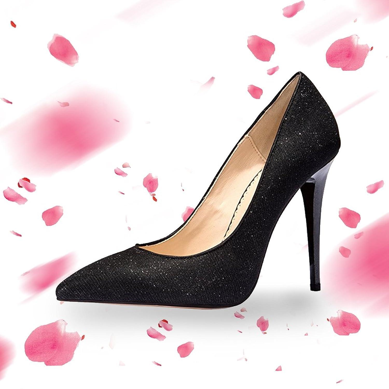 Rabbitgoo Women's New Classic Elegant Versatile Stiletto Leather Dress Pump Heels Ladies Shoes