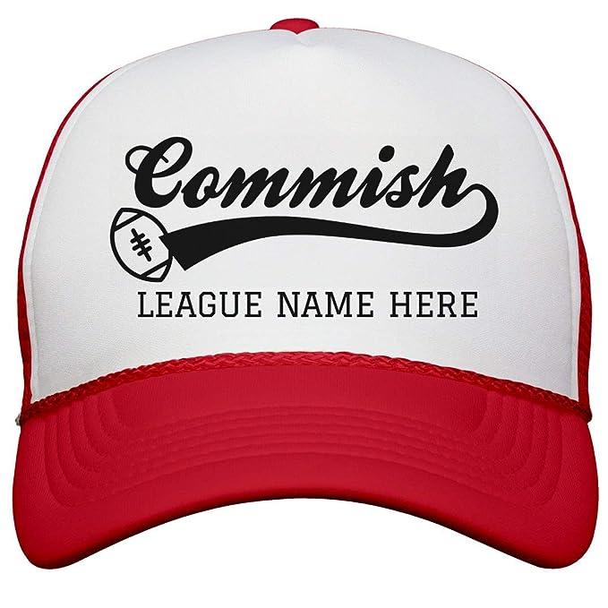 65609248 Amazon.com: Custom Fantasy Football Commish: Snapback Trucker Hat ...