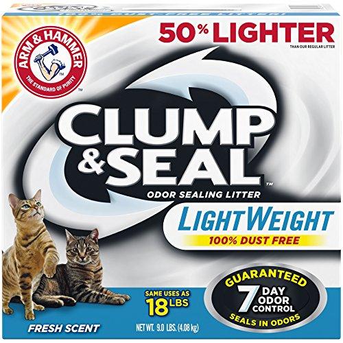 61XkK%2Bp4tDL - Arm & Hammer Clump & Seal Lightweight Litter