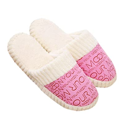Creazy New Women Soft Warm Indoor Cotton Slippers Home Anti-slip Shoes