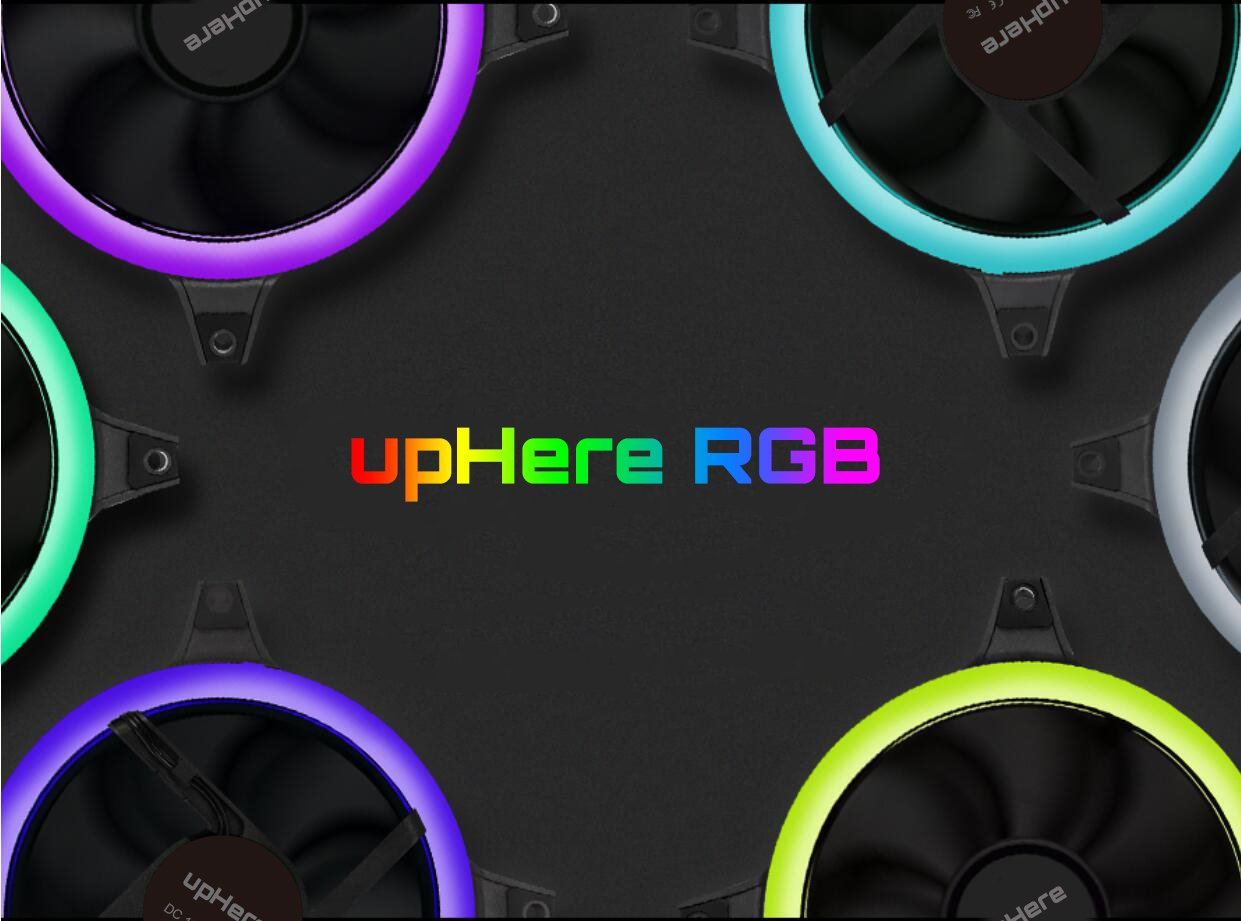 upHere 3-Pack Wireless RGB LED 120mm Case Fan,Quiet Edition High Airflow Adjustable Color LED Case Fan for PC Cases, CPU Coolers,Radiators system by upHere (Image #3)