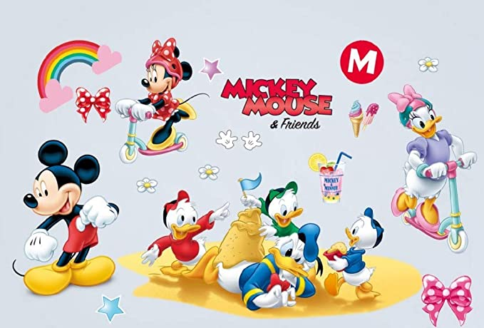 Kibi Pegatinas Infantiles Pared Minnie Pegatinas Decorativas Pared mickey Mouse Stickers Pared Mickey Dormitorio Calcomanias para Niños Pared Calcomanias Mickey: Amazon.es: Hogar