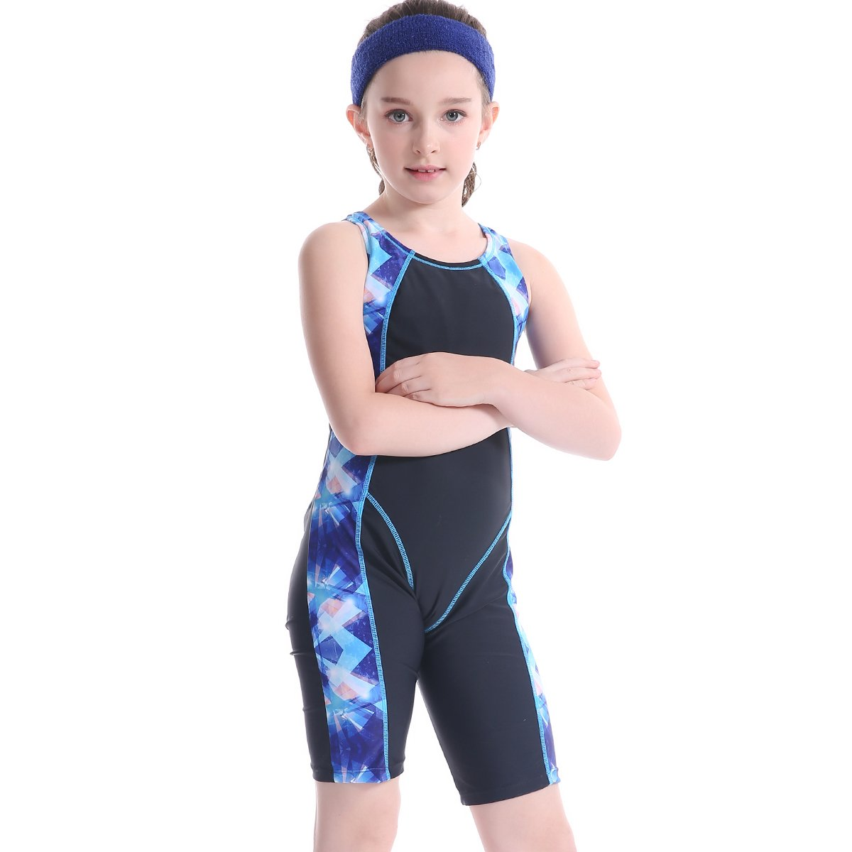 TenMet Girl's Anti UV Sun Protection Swimsuit Swimwear Surfing Diving Training Pro Competition Rash Guard