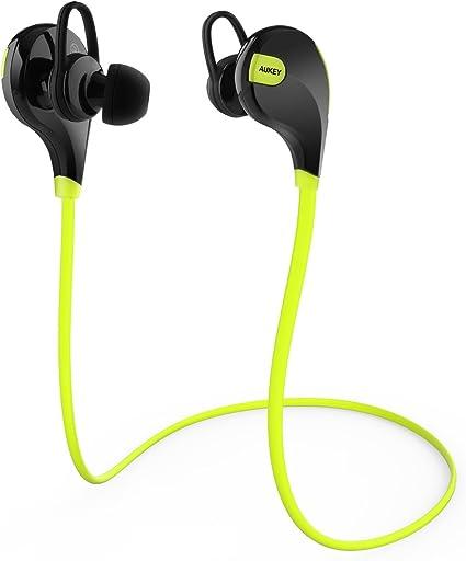 Aukey® Auricolare Cuffie Bluetooth 4.1 Headset stereo per sport, Earphone Bluetooth Auricolari wireless con Microfono e AptX Tecnologia per Samsung