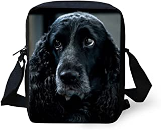 Coloranimal Cute English Cocker Spaniel Mini Cross-Body Bags for Women Messenger Handbag