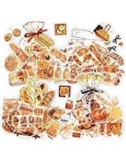 Vintage scrapbooking stickers 160 pcs of bread patterns assorted washi sticker large quantity beautiful drawing special shape for scrapbooking supplies decoration of album calendar diary DIY art crafts planners phone