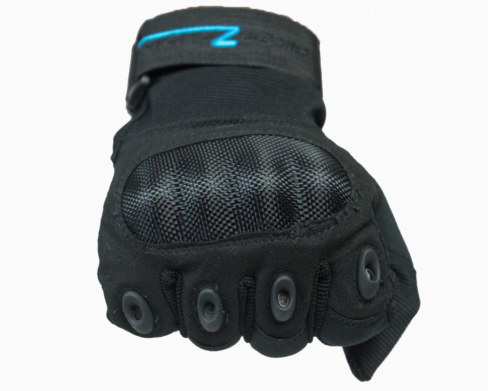 BikerZchoice Hard Knuckle Full Finger Tactical Gloves Great For Biking, Hunting, Paintball, Motorcycle, Motorsports (Exra Large, Black)