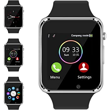Bluetooth Smart Watch - Aeifond Touch Screen Sport Smart Wrist Watch Smartwatch Phone Fitness Tracker with Camera Pedometer SIM TF Card Slot for Samsung ...