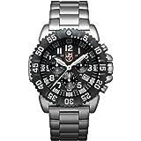 Luminox Navy SEAL Steel Colormark Chronograph XS.3182 Reloj de pulsera Cuarzo Hombre correa de Acero inoxidable Plateado