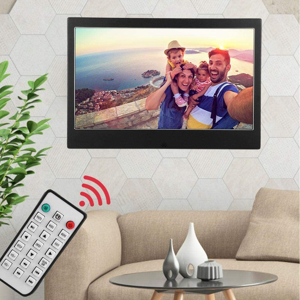 Mugast Digital Photo Frame US 11.6inch HD Digital Photo Electronic with IPS Screen Function of Music//Video Player//Clock Come with Remote Control for Friends//Family