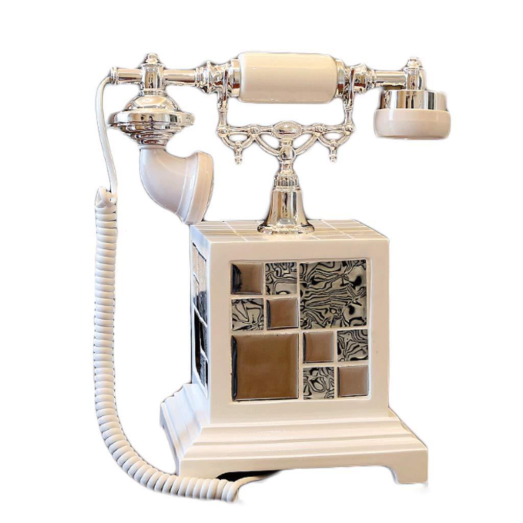 CHX オフィス家庭のリビングルームの装飾に使用されるモザイクアンティーク電話の固定電話 CHXV (サイズ さいず : L l) L l  B07H1WG7B9