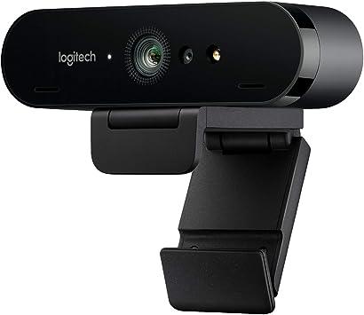 Todo para el streamer: Logitech Brio Stream Webcam, Streaming Full HD 1080p/60fps, Edición Streaming, Superrápida, Corrección de Iluminación HD, para Skype/Google Hangouts/FaceTime, Para Gaming, Portátil/PC/Mac, Color Negro