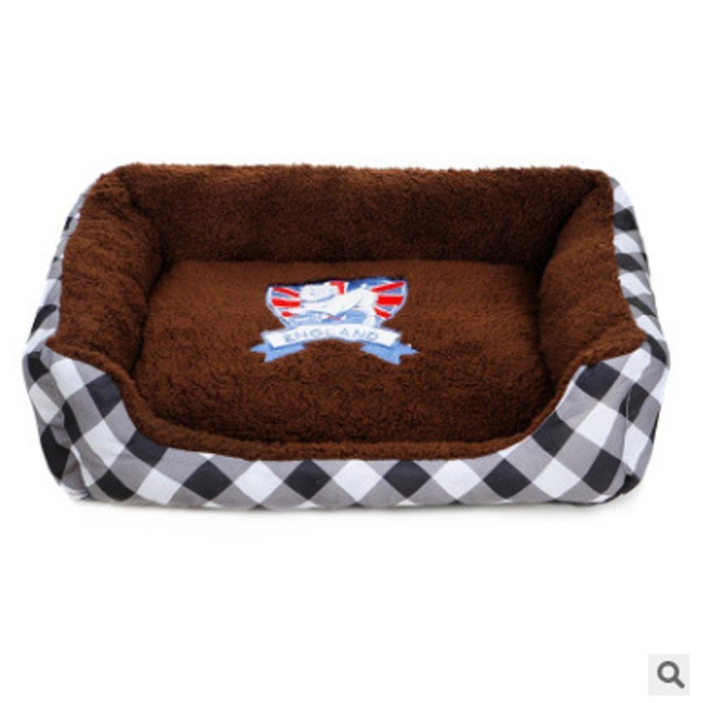 A 605010cmWUTOLUO Pet Bolster Dog Bed Comfort Cloth type warm pet nest (color   A, Size   60  50  10cm)