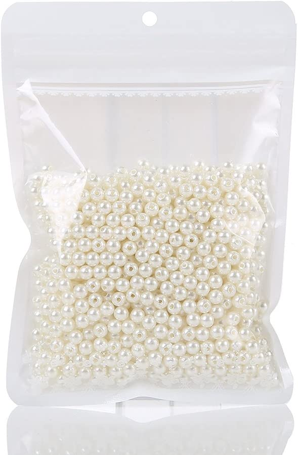 1000 Ivory Pearls 6mm