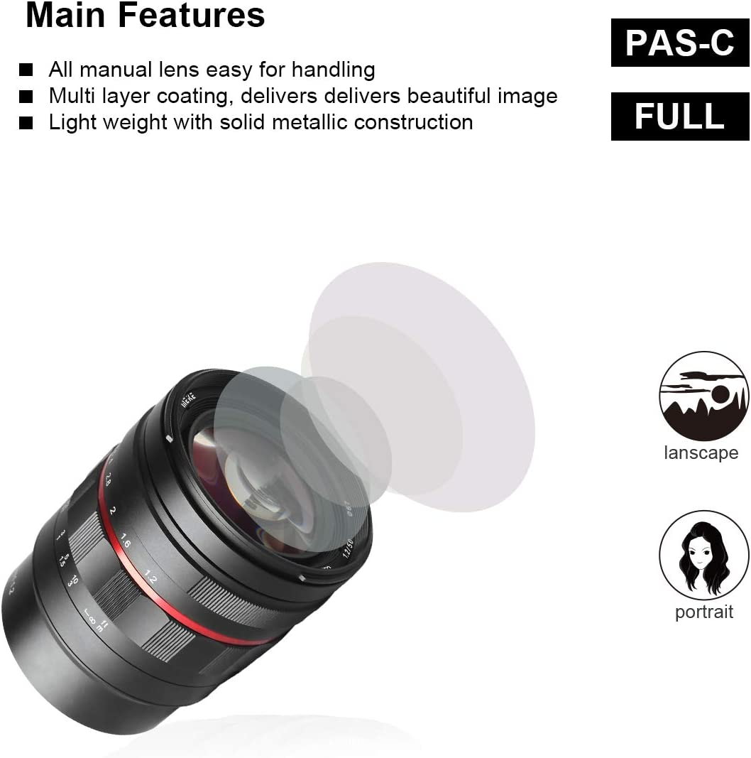 Meike MK-50mm F1.2 RF Lente fija de gran apertura manual para c/ámaras Canon Full Frame EOS R EOS-RP R5 R6 sin espejo