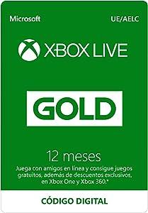 Microsoft Suscripción Xbox Live Gold - 12 Meses | Xbox Live - Código de descarga