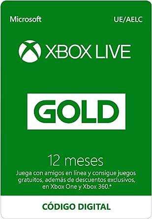 Suscripción Xbox Live Gold - 12 Meses | Xbox Live - Código de ...