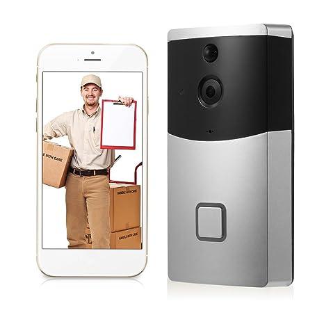 OWSOO Timbre Video Inalámbrico HD 720P con PIR Detector de Movimiento Inteligente Timbre Video Apoyo Android