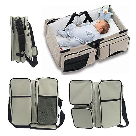 Webeauty ® 3 en 1 bebe de viaje Cuna / bolsas de pañales & portatil cuna cama para recién nacidos, bebés, niños, niñas - Baby Nursery cama para viajar ...