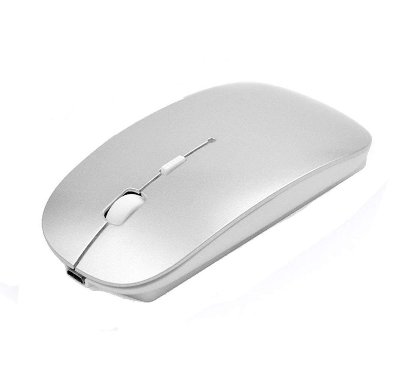 Ratón inalámbrico Bluetooth,SUAVER Ratón Óptico Ultra-Delgado Portátil Recargable Wireless Mouse para PC,Mac,Macbook,iMac,Laptop,Tablet,1600/1200/800 DPI ...