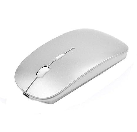 Ratón inalámbrico Bluetooth,SUAVER Ratón Óptico Ultra-Delgado Portátil Recargable Wireless Mouse para PC