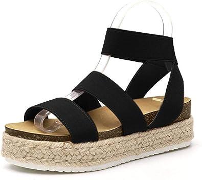 LXXUY Women Espadrille Platform Sandals
