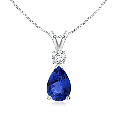 Angara Natural Sapphire and Diamond Pendant in Rose Gold y35cVXDr