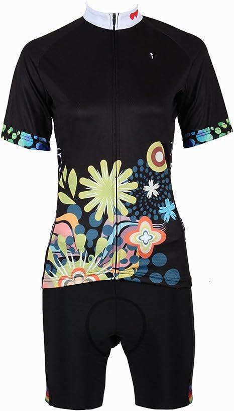 YGBH Jersey Traje de Mujer Camisa MTB Transpirable Bicicleta de montaña 3D Gel Asiento triatlón Manga Corta Bicicleta Deportes absorción de Humedad,XXL: Amazon.es: Deportes y aire libre