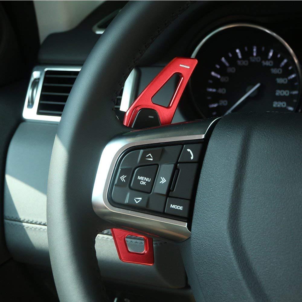 Pedali cambio marce in lega di alluminio Accessori auto per Discovery Sport LR 4 5 Evoque Vogue Velar Red Auto-broy
