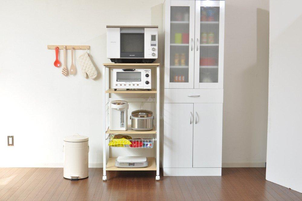 レンジボード 台所/キッチン家電 大量に収納が可能 収納 家具 台所/キッチン/台所 オープンラック 収納ラック ナチュラル B00MBAGDYO