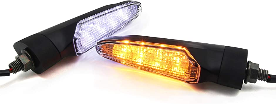 Universal Motorcycle Turn Signal LED Lights Flowing Water Flexible Light