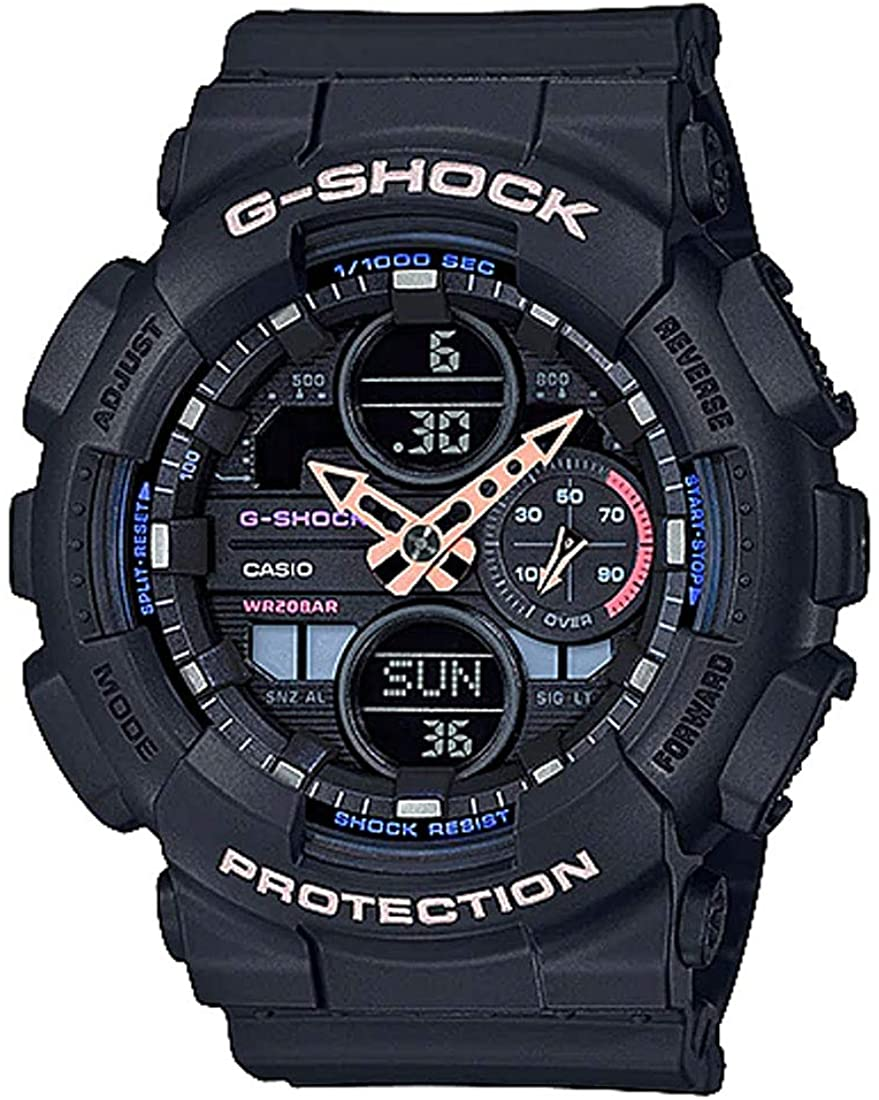 Ladies Casio G-Shock S-Series Black Resin Band Watch GMAS140-1A