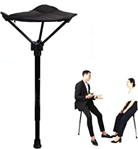 Otinlai Folding Stool Portable Seat Telescopic Stool Adjustable Three Gear Height Suitable for People of Different Heights, Light Weight, Easy to Carry, Portable Stool Anytime, Anywhere!