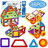 Minihorse-Educational Building Toy (38 pcs) with Activities to Learn STEM Concepts Magnetic Blocks Building Set for Kids, Magnetic Tiles Gift for Kids 2-5 Years Old