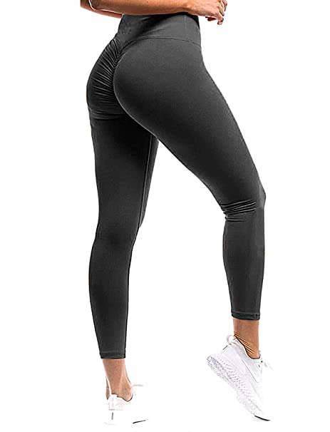 b42716a4f016 SEASUM Women Scrunch Butt Yoga Pants Leggings High Waist Waistband Workout  Sport Fitness Gym Tights Push
