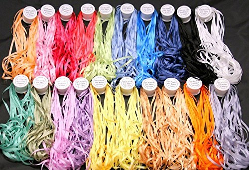 New ThreadNanny 20 Spools of 100% Pure Silk Ribbons - 4mm x 10 Meters