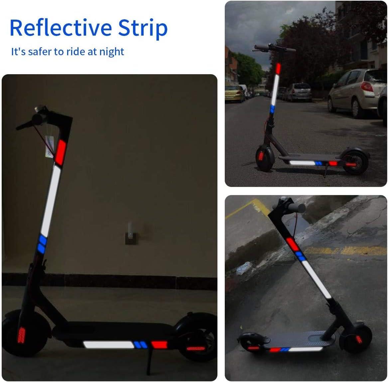 Adesivi riflettenti per scooter e scooter parti di ricambio per Ninebot MAX‑G30 adesivi riflettenti per skateboard Homeriy impermeabili
