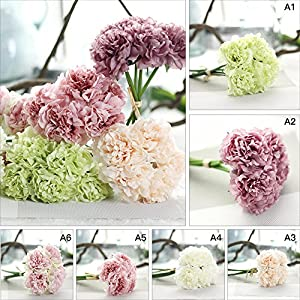 1 Bouquet /5pcs Wedding Artificial Hydrangea Flower Home Party Floral Decoration 2