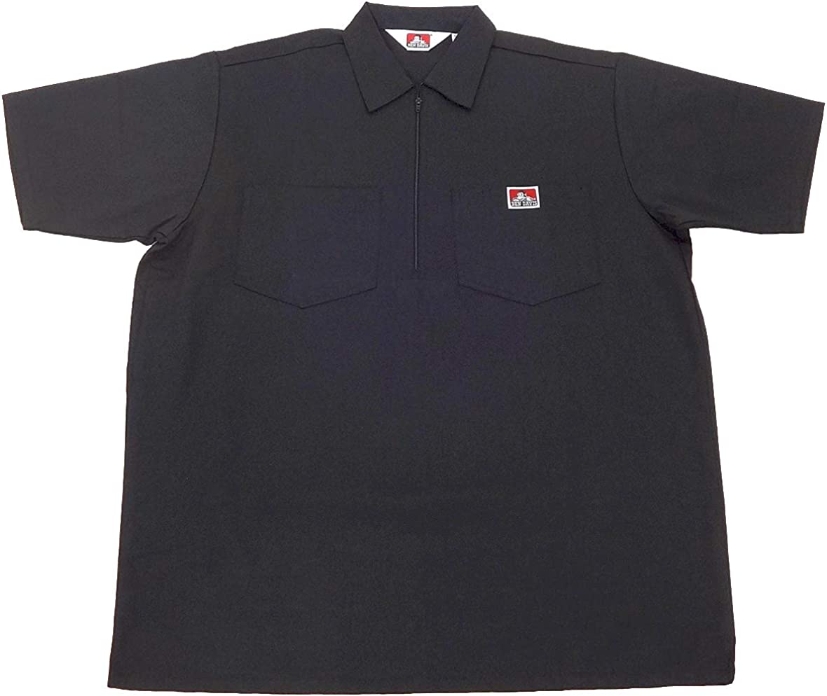 Ben Davis Short Sleeve 1/2 Zip Shirt: Clothing
