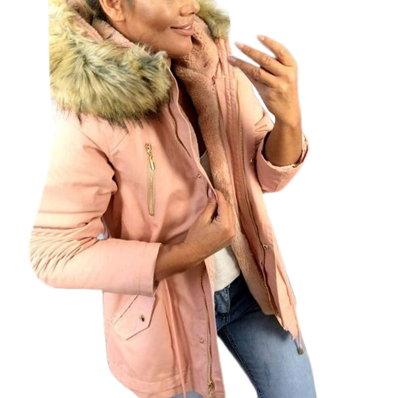 Pink Twinkle UU Sweaters Warm Military Hooded Jacket Streetwear Ladies Casual Faux Fur Coats Outwear