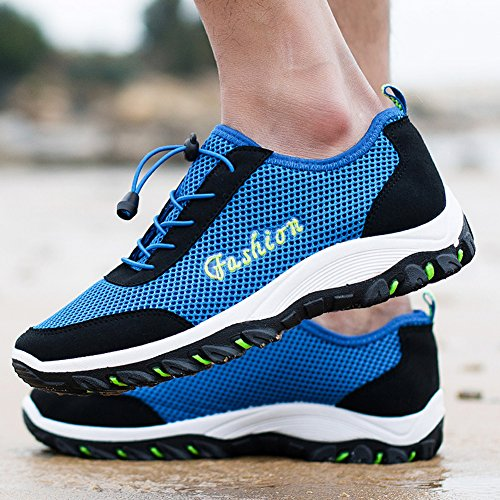Mountaineering Trekking Top Breathable Shoes Sapphire Low Mesh Outdoor Sport fereshte Men's Hiking UqIwYXw